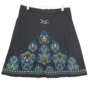 Heart Soul embroidered sequined skirt